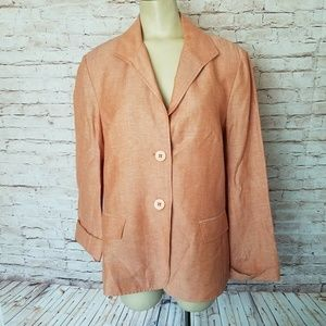 Lafayette 148 Linen Wool Blazer Jacket Career